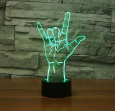 Hologram Night Light USB I Love You Sign Language LED 3D Optical Illusion
