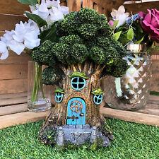 Vintage Magical Fairy Pixie Green Man Treehouse Home Garden Sculpture Ornament D