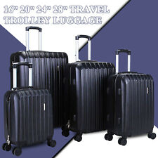 ab32678c1 4 Piece ABS Luggage Set Light Travel Case Hardshell Suitcase 16