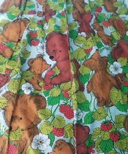 "Vintage Sears Bear Forest 24"" Wide 34.5"" Long Animal Curtains Bark Cloth  kids"