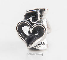 Authentic Trollbeads Silver bead called Hearts Galore 11188