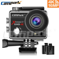 Campark 4K Action Camera 16MP Ultra HD WiFi Sport Cam Waterproof 170° Wide Angle
