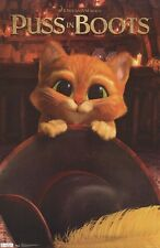 PUSS IN BOOTS ~ KITTEN EYES ~ 22x34 MOVIE POSTER ~ Antonio Banderas Shrek Cute