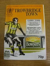 17/10/1994 Trowbridge Town v Newport [FA Cup 2nd Replay] & 15/10/1994 v Corby To