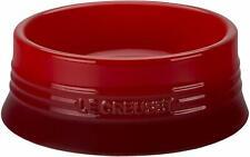 Le Creuset Pet Bowl Size L Cherry Red Antifouling Microwave Safe