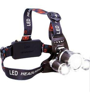 High Power LED Headlamp 5000LM XM-L2 2XPE USB Rechargeable LED RJ - 3000 Boruit