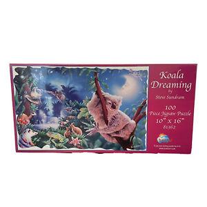 New Sunsout Koala Dreaming by Steve Sundram 100 Pc Jigsaw Puzzle 10X16 81362 USA