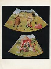 """1971 Vintage HIERONYMUS BOSCH """"7 DEADLY SINS LUST & ANGER"""" COLOR Art Lithograph"""