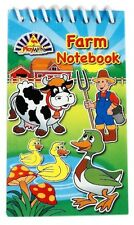 Pack of 12 Farm Animals Mini Spiral Notebooks - Childrens Party Loot Bag Filler
