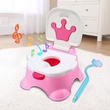 3in1 Toilettentrainer Kinder WC Sitz Toilettensitz Lerntöpfchen Töpfchen Musik