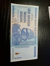 🇿🇼 Zimbabwe 100 Trillion Dollars 2008 Paper Money Currency Banknote