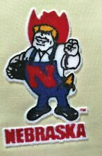 "NEBRASKA CORNHUSKERS, Iron on Lextra Patch - ""Herbie Husker"" Free Shipping!!"