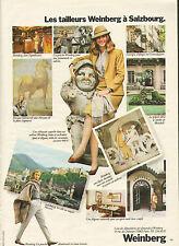 Publicité 1980 Tailleur Weinberg à Salzbourg pret à porter collection mode