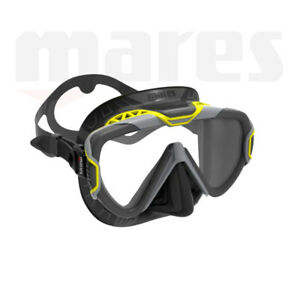 Mares Pure Wire Mask ~ Black Skirt / Yellow Frame