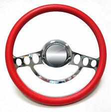 Billet & Red Steering Wheel Full Kit 1969 and up Chevy Chevrolet El Camino