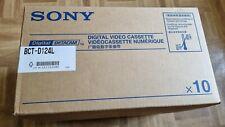 10 x Sony BCT-D124L DIGI BETA TAPES DIGITAL BETACAM