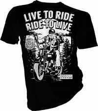 Live To Ride, Biker, Sons of Anarchy, Motorcycle Club, Unisex & Kids T-Shirt