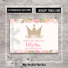 PERSONALISED Floral Princess, Girl, Baby Shower, Birthday, Guest Book, Keep Sake