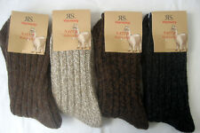 Ladies Harmony Socks Chunky Knitted With Wool and Alpaca 4 Colors 35 Bis 42 39-42 2 Pair