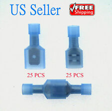 50 Male/Female Insulated Wire Terminal 16-14 Gauge Quick Disconnect Connectors