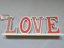 Wood Fabric Letters Set - LOVE