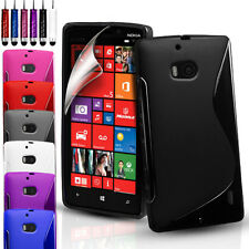S-Line Silicone Gel Case Cover Pouch For Nokia Lumia 930 & Free Screen Protector