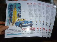 Publicité Plastifiée Historique Ancienne Citroen & ID DS 19 Belgique Belgium