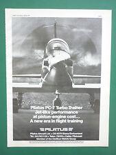 5/1977 PUB AVION PILATUS PC-7 TURBO TRAINER SWISS AIRCRAFT FLUGZEUG ORIGINAL AD