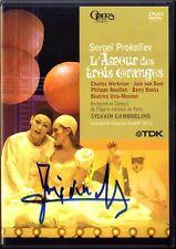 DVD Jose VAN DAM Signiert PROKOFIEV Love for Three Oranges CAMBRELING L'Amour 3
