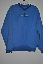 Mens Large Turfer Sportswear Soccer Pullover Coat Jacket Blue