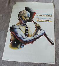 Masters of Metal 1986 Heavy Hard Rock Minerva Scotland Music Poster #68114 FA/G