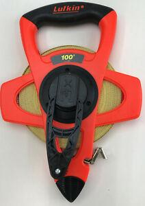 Lufkin  100 ft. L x 0.5 in. W Reel Rewind Tape Measure  Orange