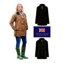 Wax Jacket Ladies Cotton Riding Vented Horse Equestrian Fitted Waterproof Rain