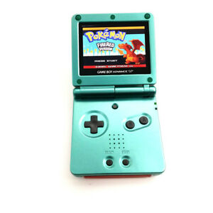 Green Game Boy Advance GBA SP Console AGS 101 Brighter Backlit LCD Console