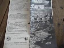 Vtg 1961 Grand Canyon AZ Arizone Travel Brochure Guide  w/Map & Car Pass
