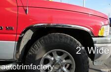 CHROME FENDER TRIM FITS DODGE RAM 2500 3500 94-02 Mirror Stainless Steel *Long*