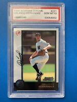 Orlando Hernandez ROOKIE Bowman Chrome BASEBALL CARD #221 PSA 10 1998 Yankees