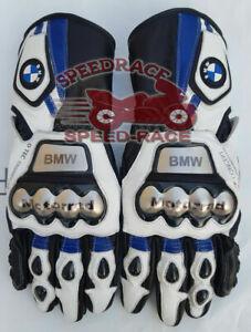 NEW MOTORCYCLE BMW S1000RR MOTORBIKE BMW MOTORRAD MOTOGP RACING LEATHER GLOVES