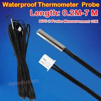10K NTC 2 Probe Measurement 0.2M-7M Waterproof Thermometer Temperature Sensor