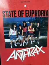 ANTHRAX STATE OF EUPHORIA JAPAN BAND SCORE BOOK GUITAR TAB / Dan Spitz Scott Ian