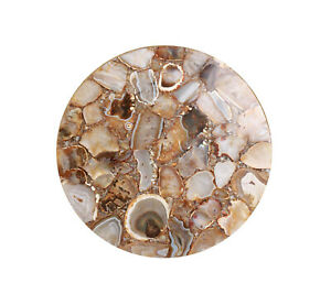 Brown Agate Gemstone Coffee Custom Table Top Decorative Kitchen And Bedroom Deco
