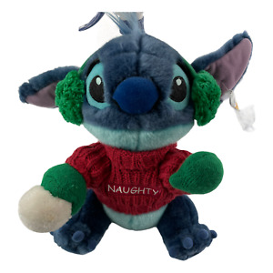"""NEW Disney Store Lilo And Stitch Naughty Sweater Plush 11"""" Blue Green White Red"""