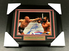 GEORGES ST. PIERRE #1 UFC CHAMPION AUTOGRAPHED SIGNED FRAMED 8x10 PHOTO BAS COA