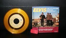 Elvis Presley Original Gold 45 Record  50th Anniversary w/Miss-Alamamba Fair Tic