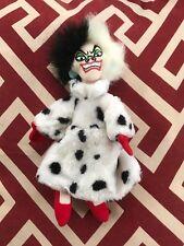 "Cruella DeVille Walt Disney Store 101 Dalmatians 9"" Plush Doll In Fur Coat"