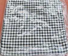 Pottery Barn MINI GINGHAM SHERPA REVERSIBLE Pillow Cover 18 X 18~ NWT ~ Black
