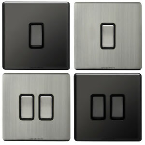 Single or Double Light Switch 1 or 2 Gang 2 Way Wall On/Off Switch