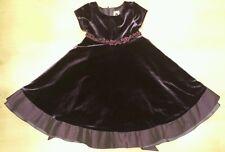 Girl's Pretty Party Velour/Velvet Purple Dress Size 4