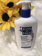 New Kiss My Face Hand Soap Liquid Lavender Shea Calm Clean 9 oz Olive Aloe