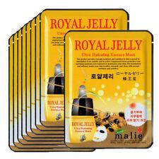 Royal jelly Face Mask Pack Sheet Moisture Essence Facial Skin Care 9pcs Unisex